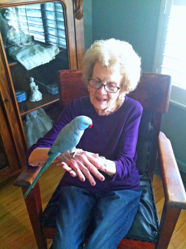 Aunt Norma in her 90s