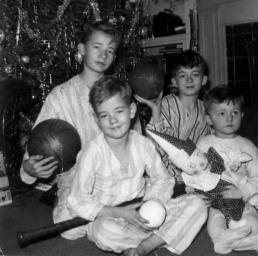 Boys at Christmas