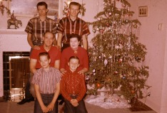 CLYDE GUTKE FAMILY CHRISTMAS 1958 A