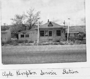 Clyde Kempton's service station Strevell
